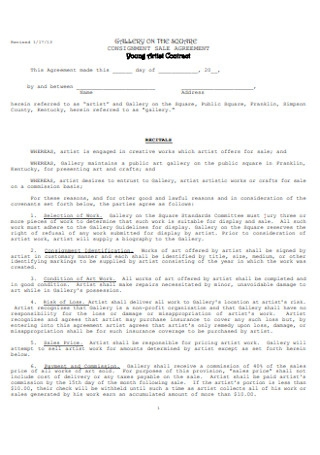 Young Artist Contract
