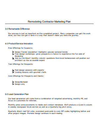 30 Day Contractor Marketing Plan
