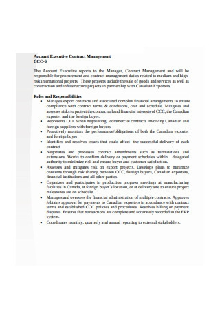 Account Executive Contract Management