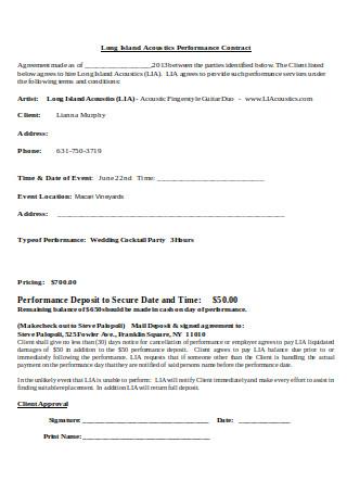 Acoustics Performance Contract