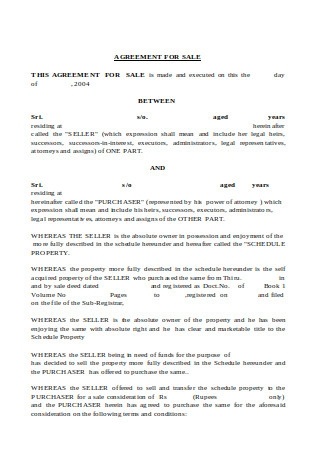 Agreement for Sale1