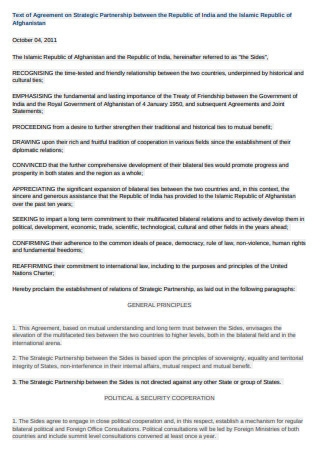 Agreement on Strategic Partnership