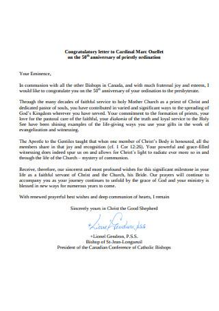 Anniversary Congratulation Letter