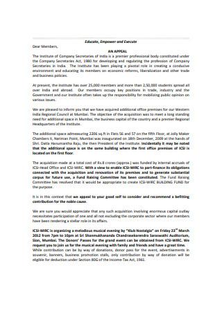 Appeal Letter for sponsorship