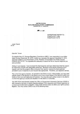 Appeal Response Letter