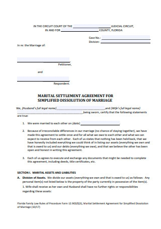 Approved Family Law Form