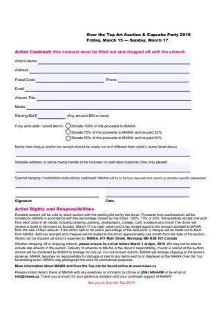 Artist Contract Example
