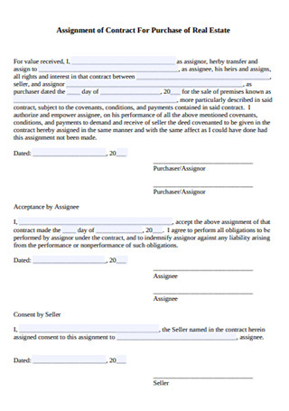 Assigment of Contract for Purchase of Real Estate1