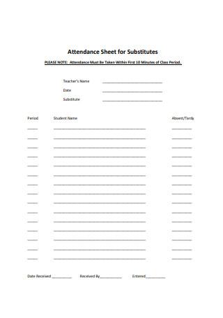Attendance Sheet Format