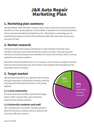 Aurto Repair Marketing Plan