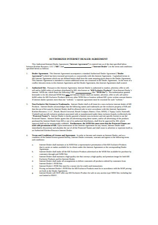 Authorized Internet Dealer Agreement