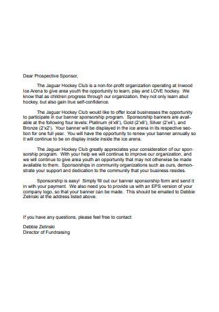 Banner Sponsorship Letter