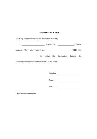 Basic Authorization Letter