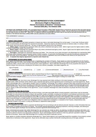 Basic Buyer Representation Agreement