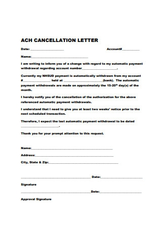 Basic Cancellation Letter