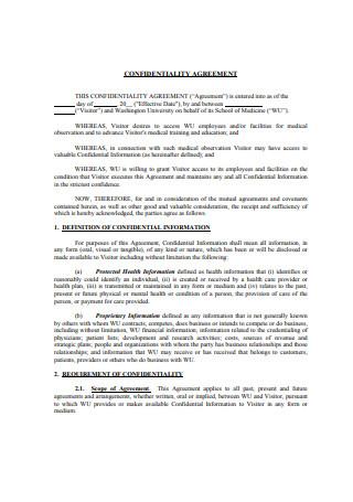 Basic Confidentiality Agreement Sample