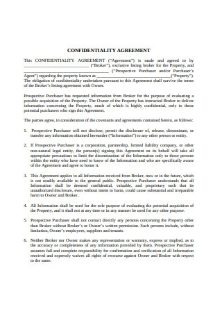 Basic Confidentiality Agreement1