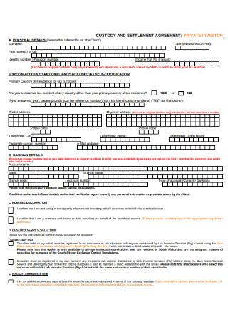 Basic Custody Settlement Agreement