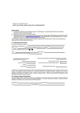 Basic Dealer Agreement Example