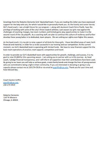 Basic Donation Letter
