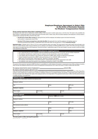 Basic Employee Agreement Sample