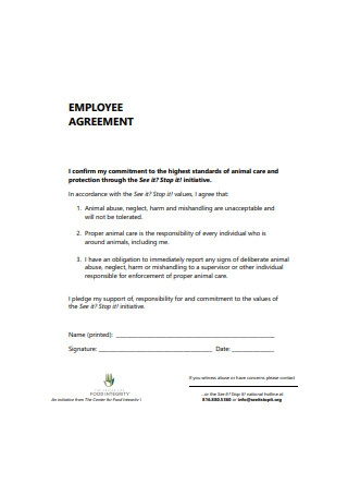 Basic Employee Agreement