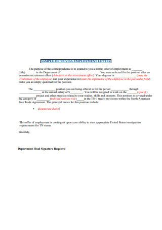 Basic Employment Letter Format