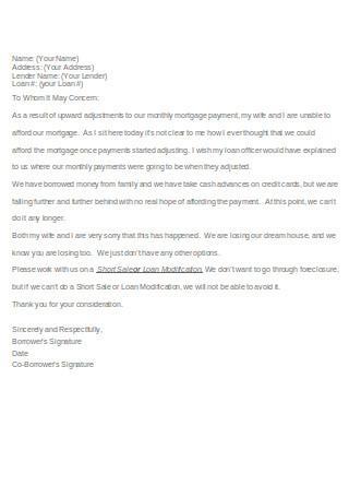 Basic Hardship Letter