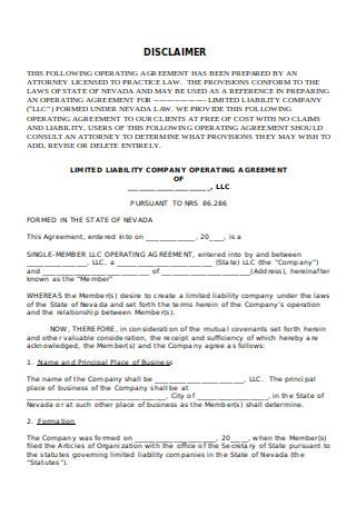 Basic LLC Operating Agreement