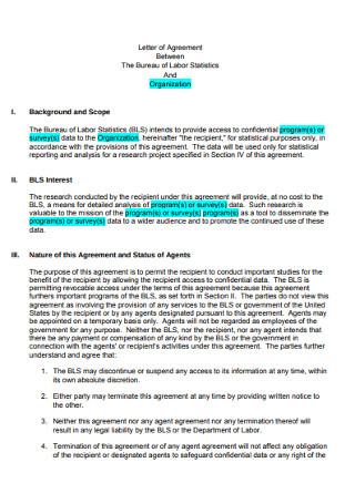Basic Letter of Agreement