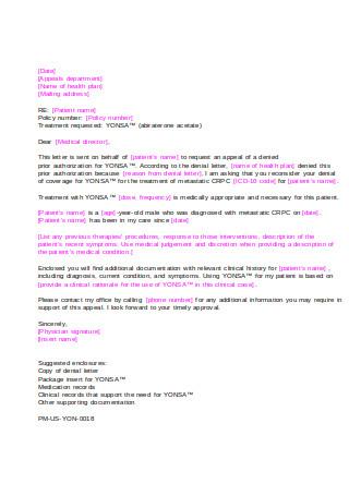 Basic Letter of Appeal Format