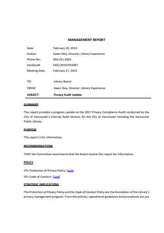 Basic Management Report