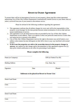 Basic Owner Agreement