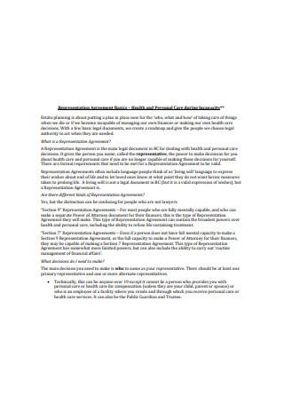 Basic Representation Agreement