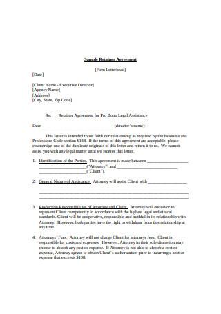 Basic Retainer Agreement Sample