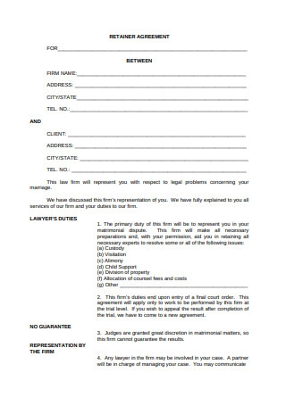 Basic Retainer Agreement