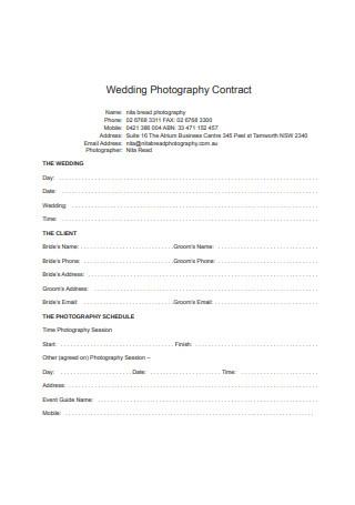 Basic Wedding Photography Contract