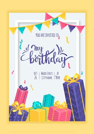 birthday card template image
