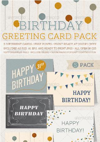 Birthday Greeting Card Pack