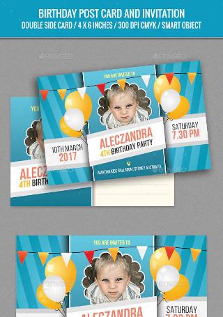 Birthday Post Card Template