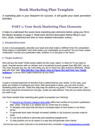 Book Marketing Plan