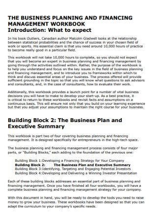 Business Planing and Executive Summary