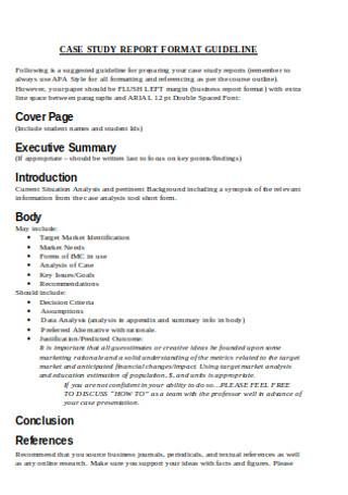 Case Study Report Format