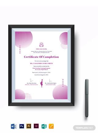 Cheerleading Award Certificate Template