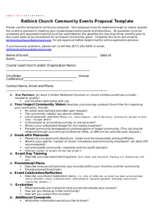 Church Community Events Proposal Template