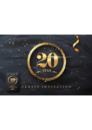 Classy Birthday Invitation