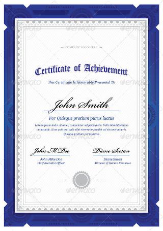 Classy Diploma Award Certificate