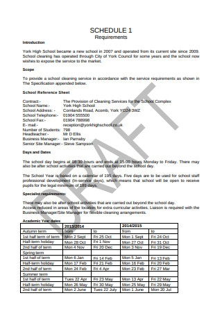 Cleaning Services Contract Sample