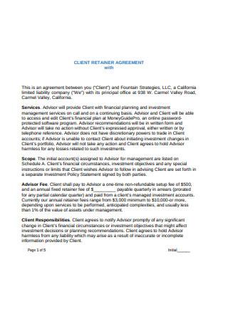 Client Retainer Agreement