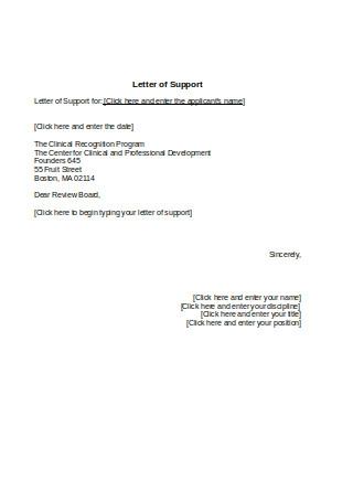 Clinical Recognition Program Letter Sample